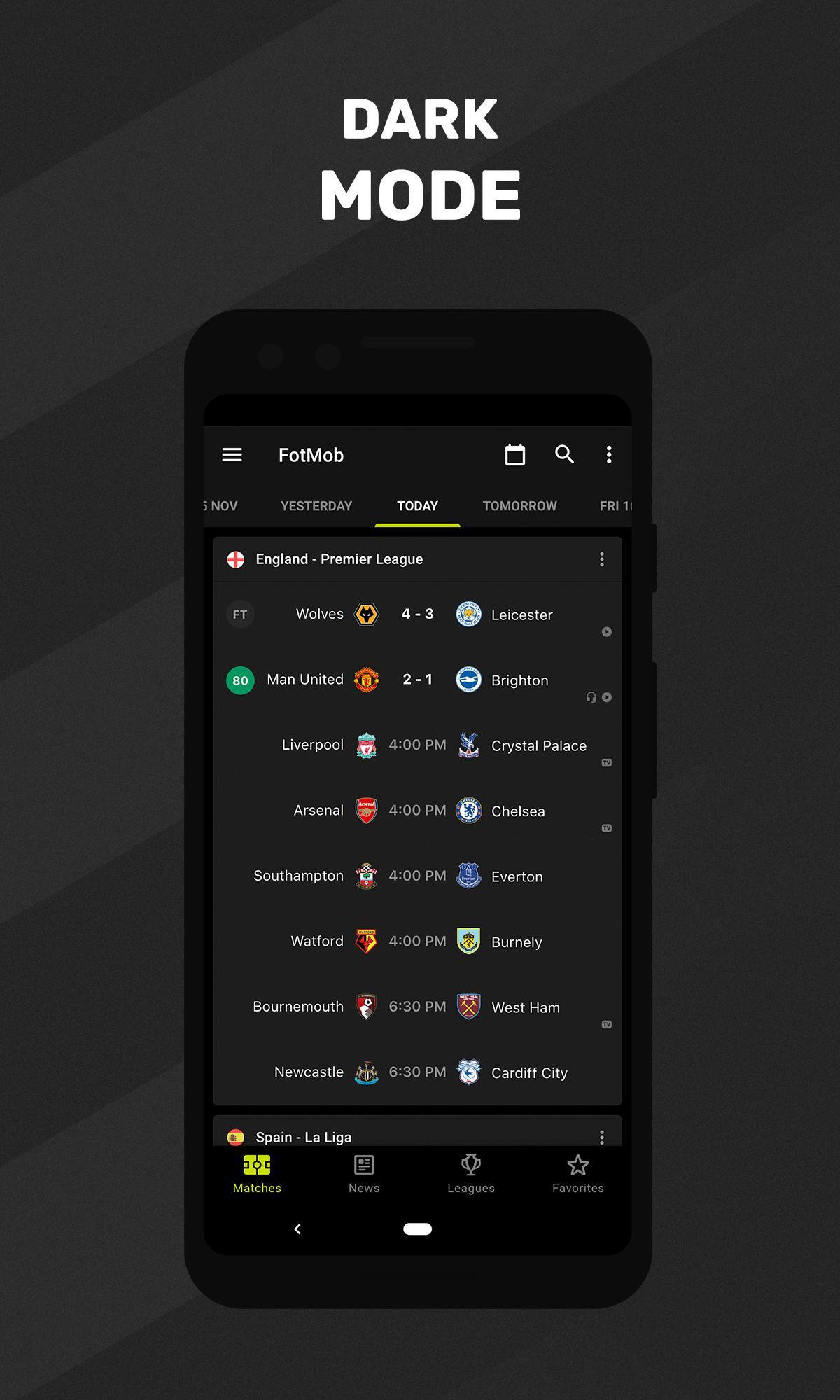 Soccer Scores FotMob screen 5