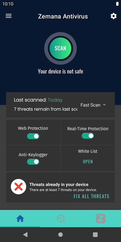Zemana Antivirus screen 4