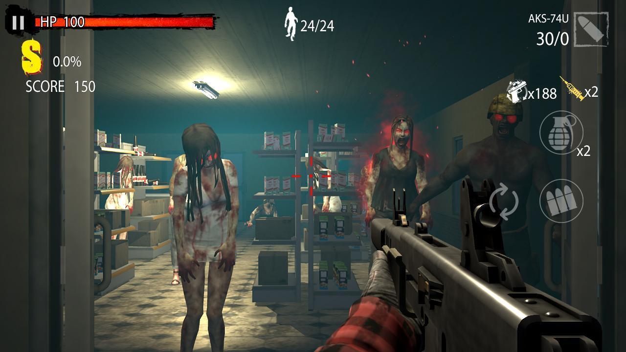 Zombie Hunter D Day screen 1