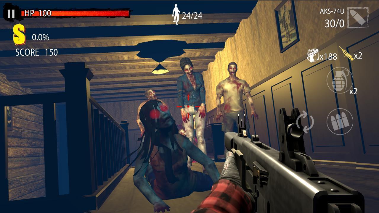 Zombie Hunter D Day screen 2