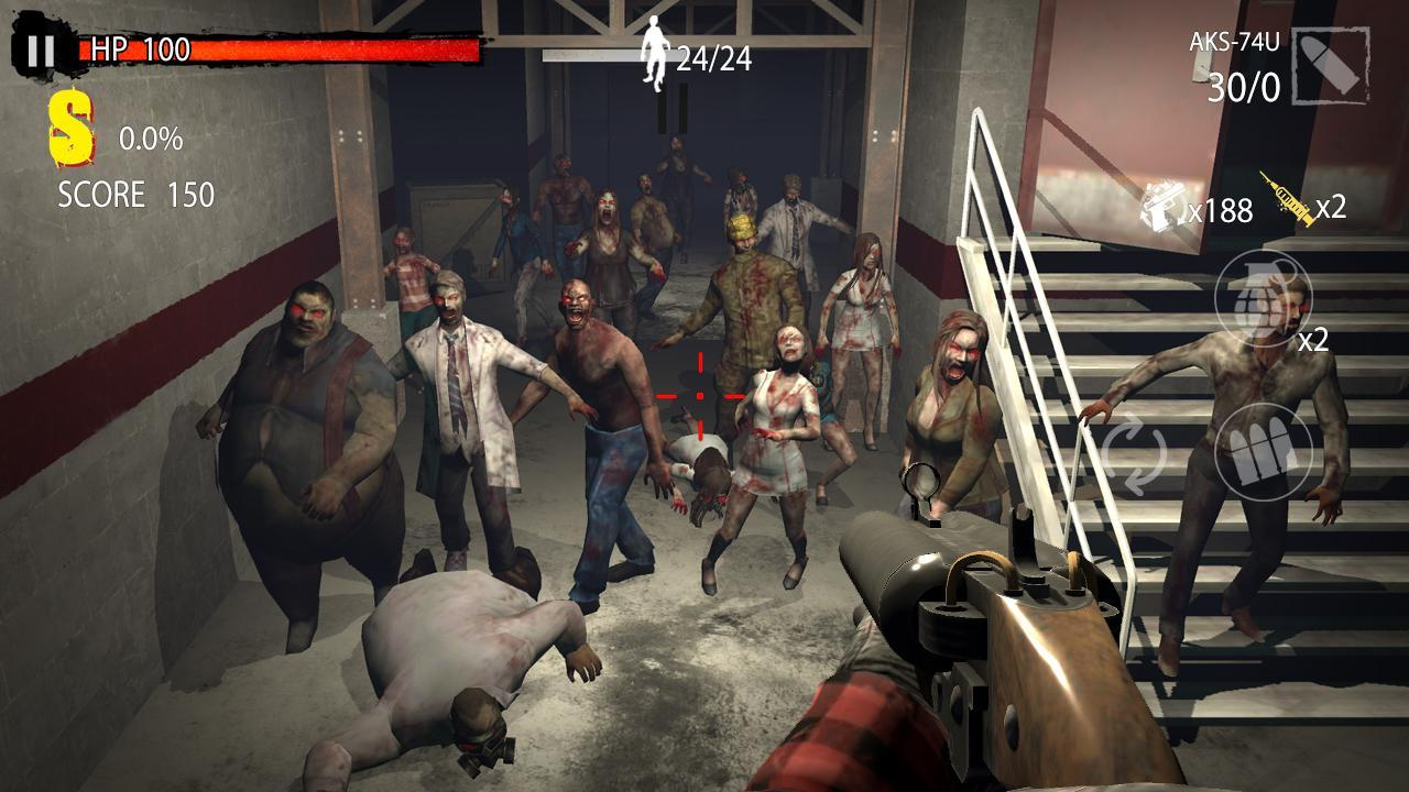 Zombie Hunter D Day screen 3