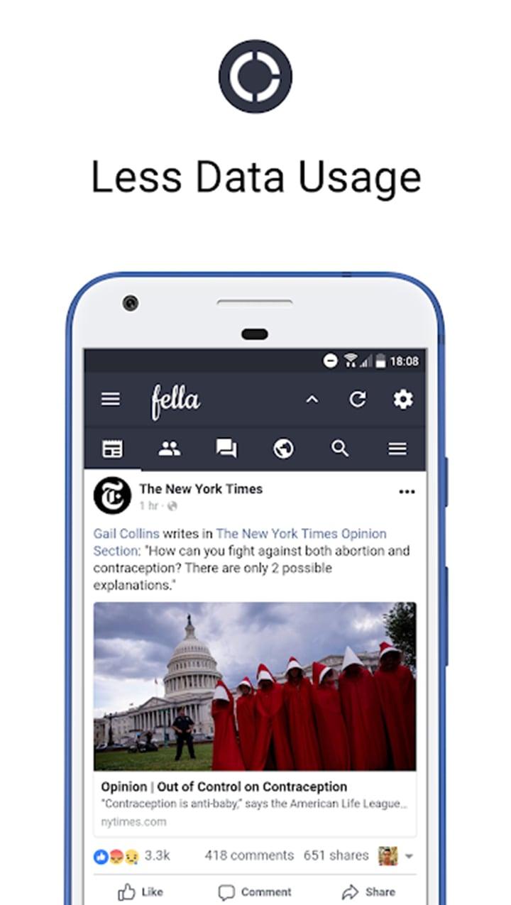 Fella for Facebook screen 2