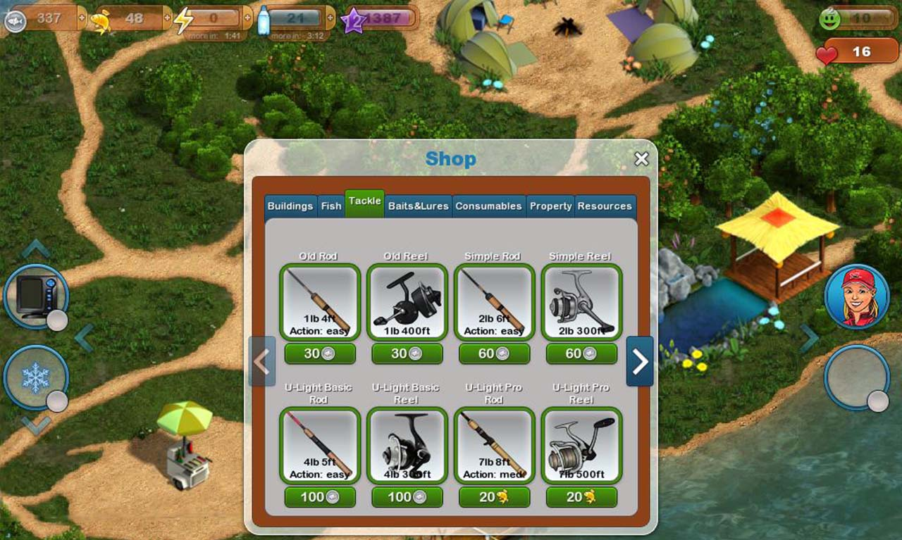 Fishing Paradise 3D screen 3