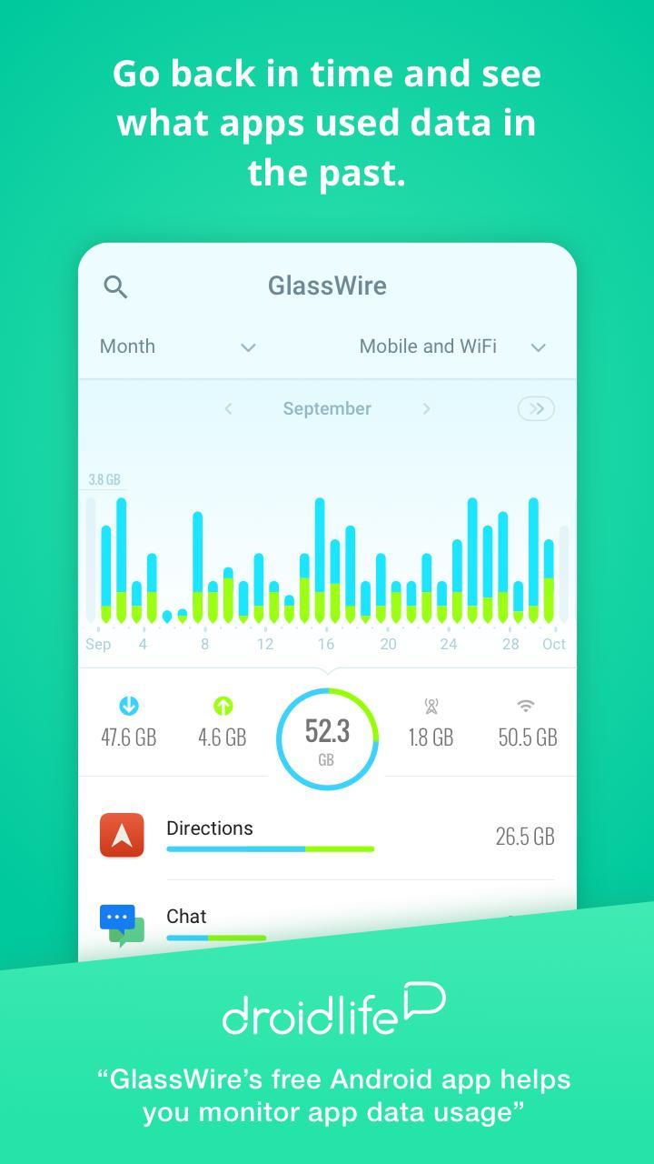 GlassWire Data Usage Monitor screen 2