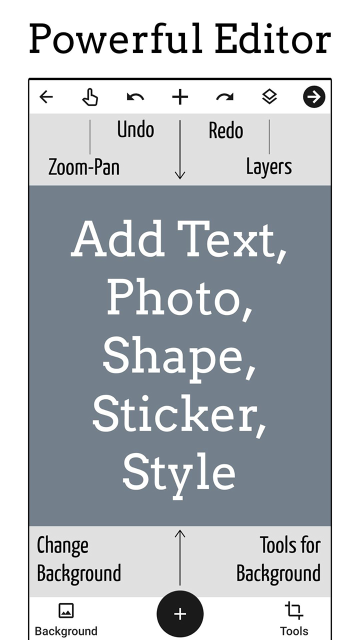 Add Text app Text on Photo Editor screen 0