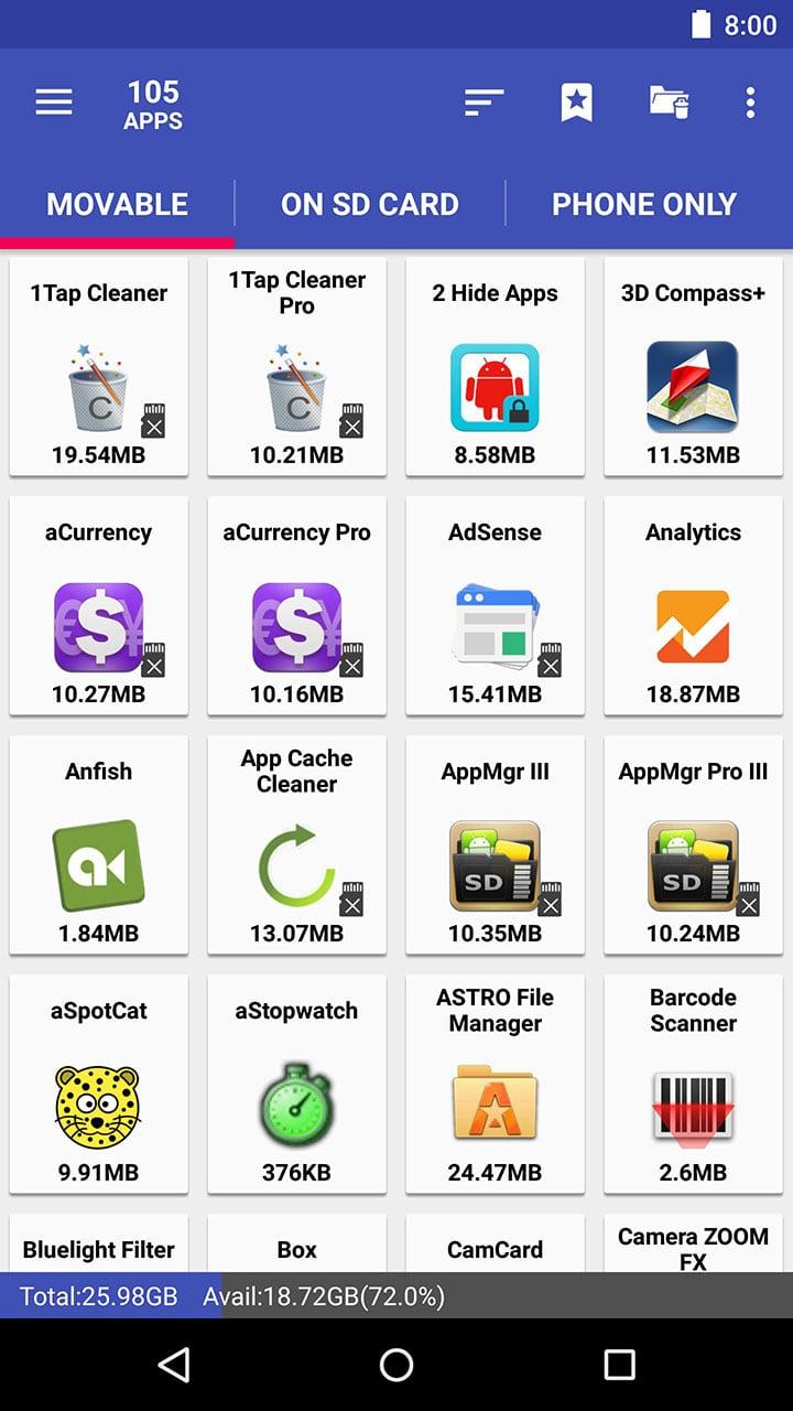 AppMgr III screen 0