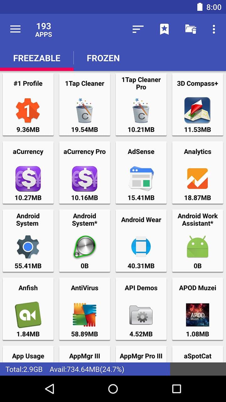 AppMgr III screen 2