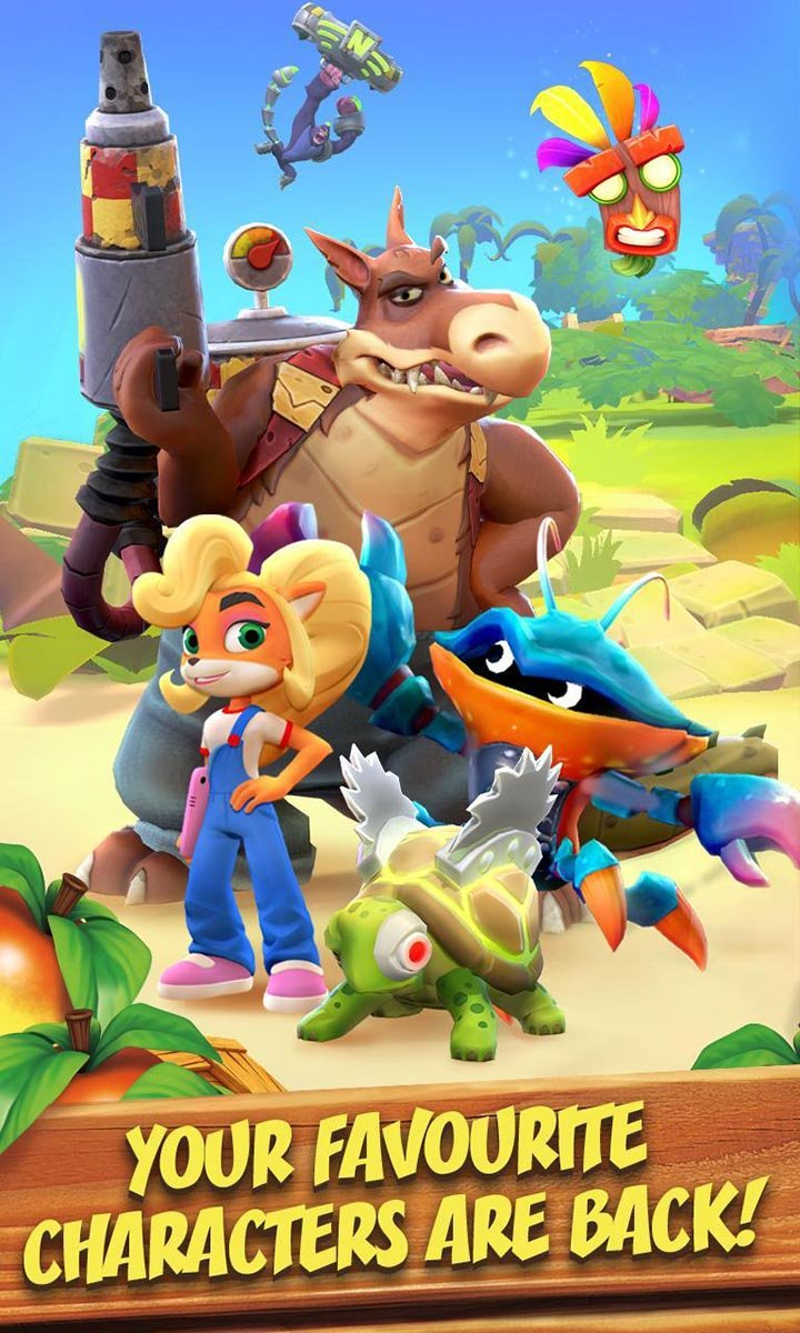 Crash Bandicoot On the Run screen 1