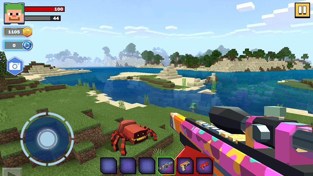 Fire Craft 3D Pixel World screen 1