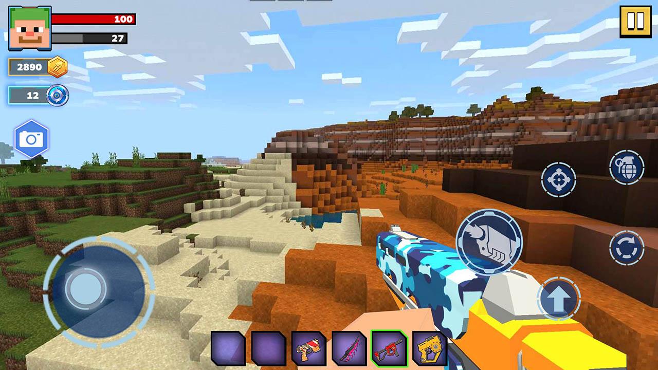 Fire Craft 3D Pixel World screen 3