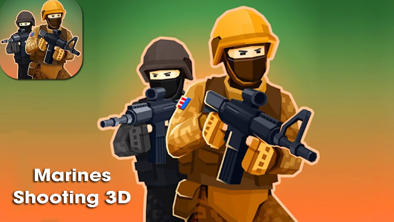 Marines Shooting 3D poster