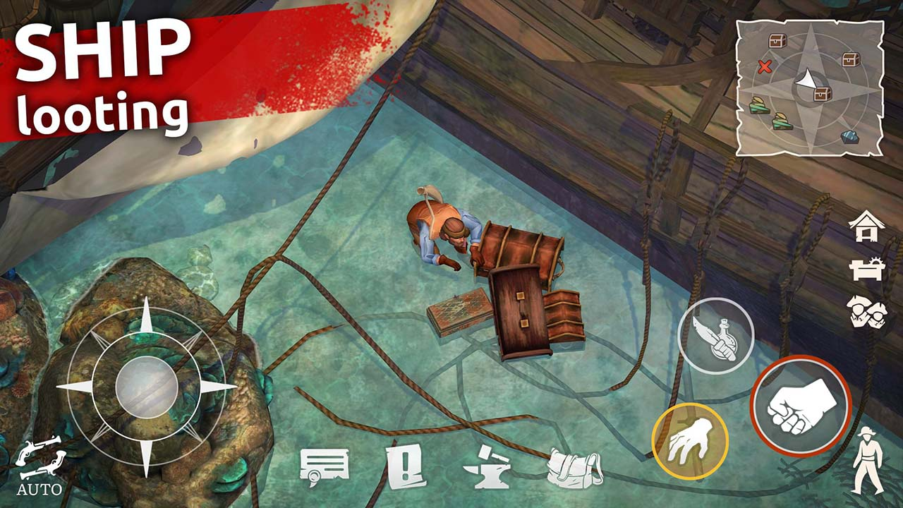 Mutiny Pirate Survival RPG screen 1
