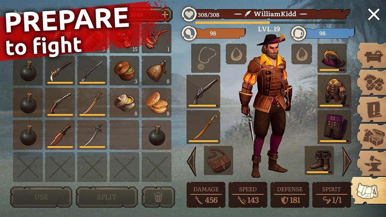 Mutiny Pirate Survival RPG screen 3