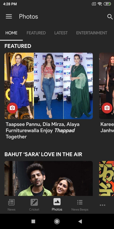 NDTV News India screen 0