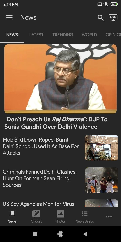 NDTV News India screen 4