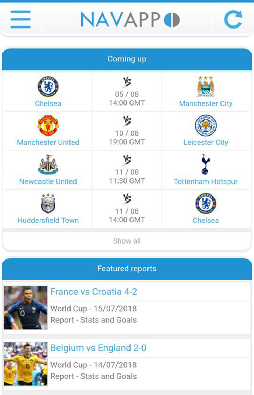 NavixSport screen 0