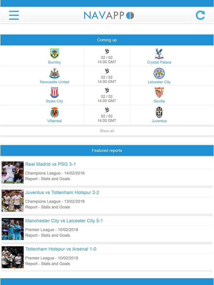 NavixSport screen 2