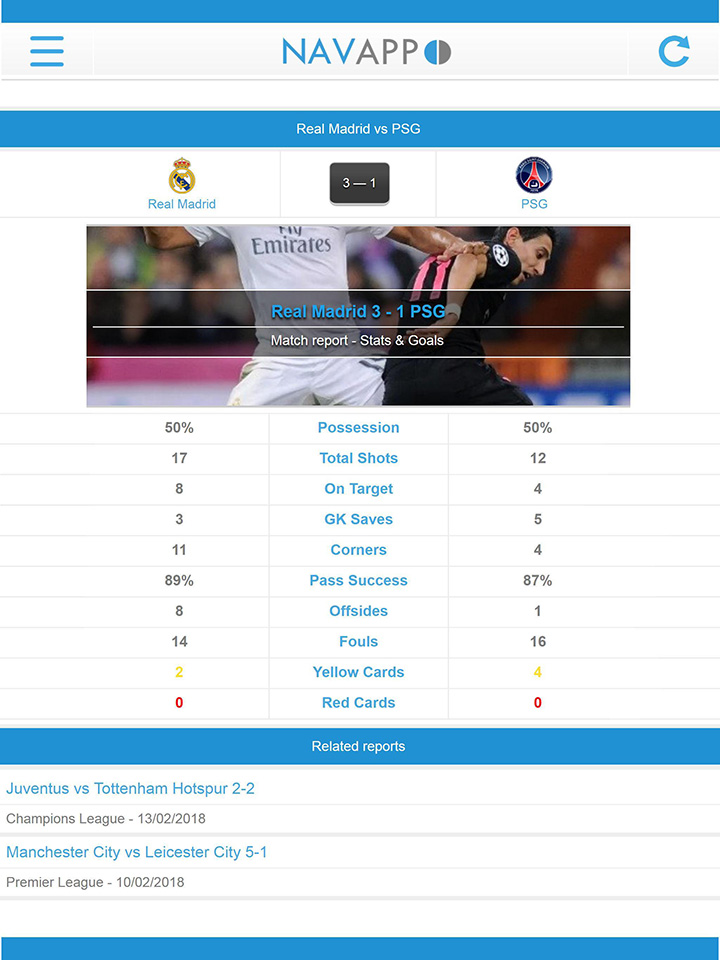 NavixSport screen 3