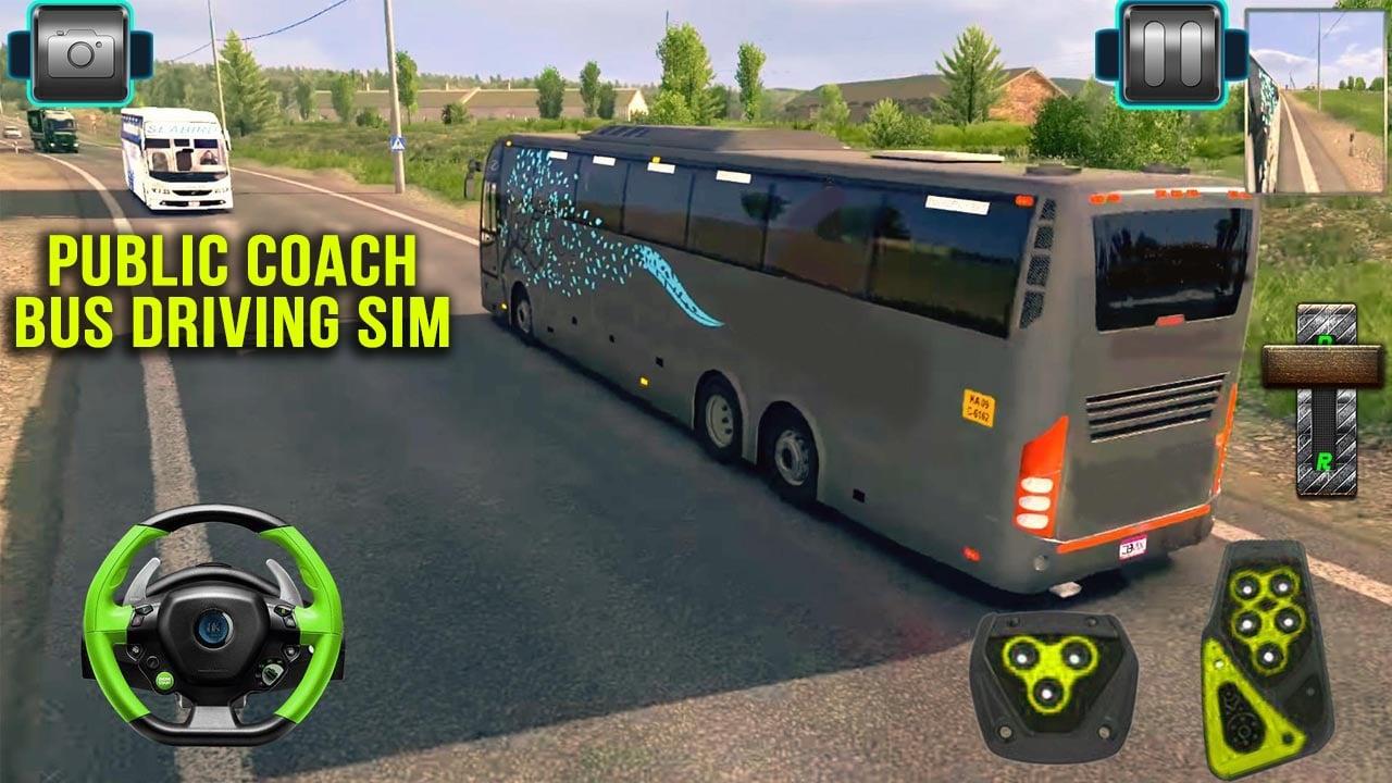 Public Coach Bus Driving Sim poster