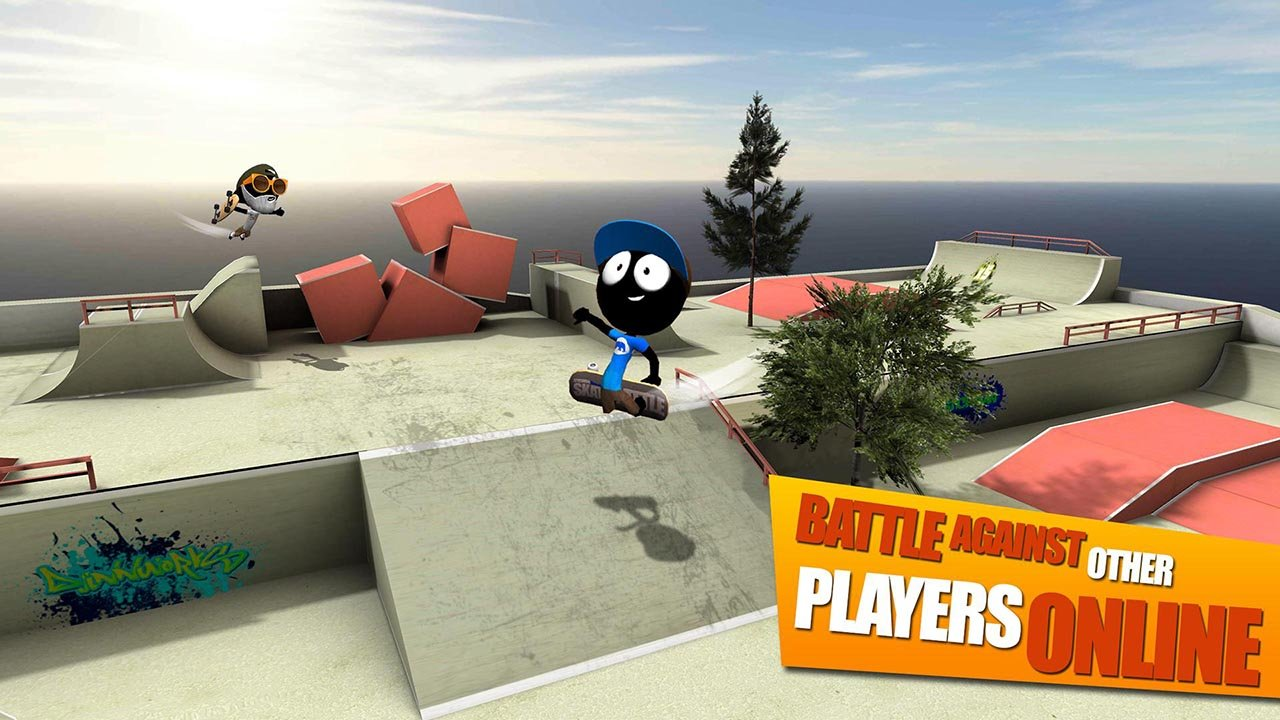 Stickman Skate Battle screen 0