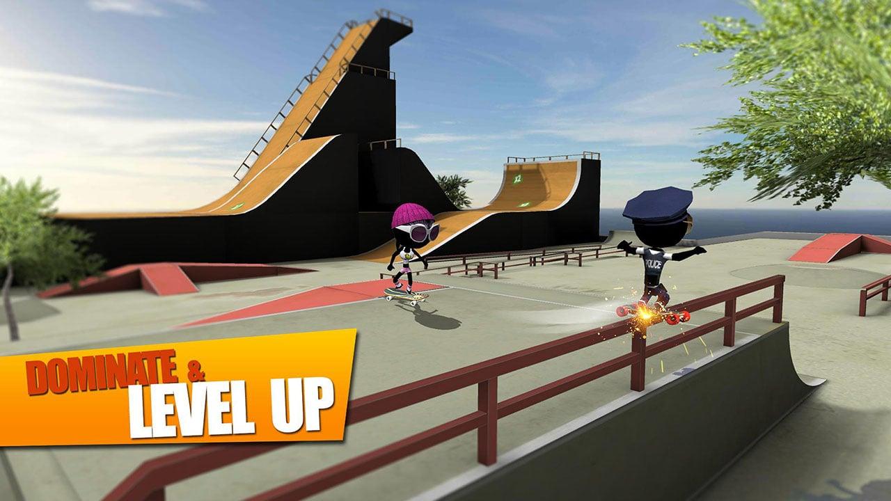 Stickman Skate Battle screen 1