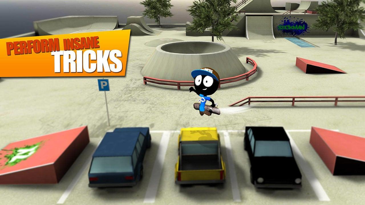 Stickman Skate Battle screen 2