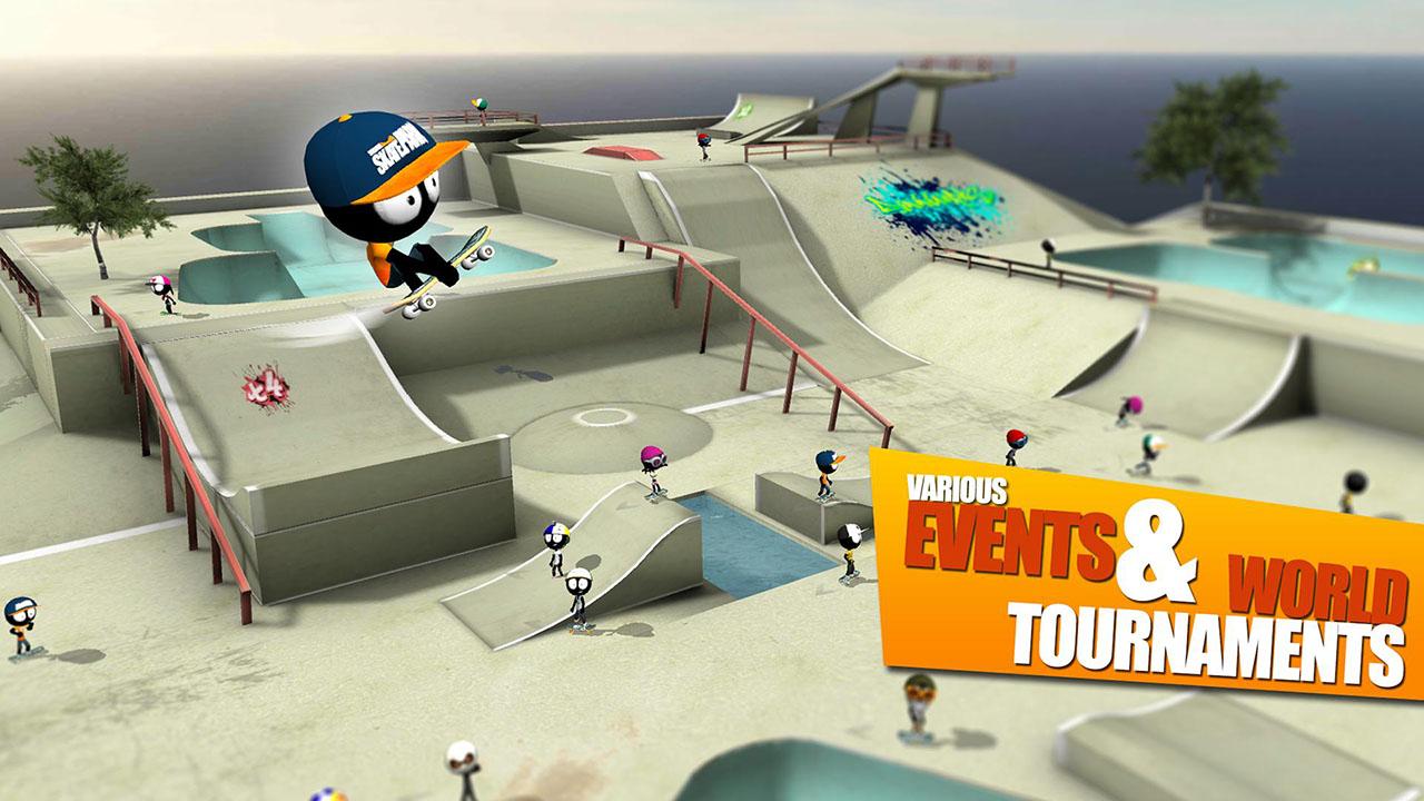 Stickman Skate Battle screen 3