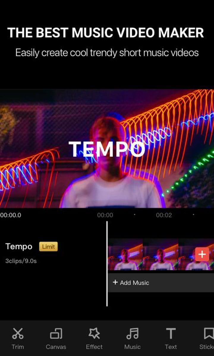 Tempo screen 0