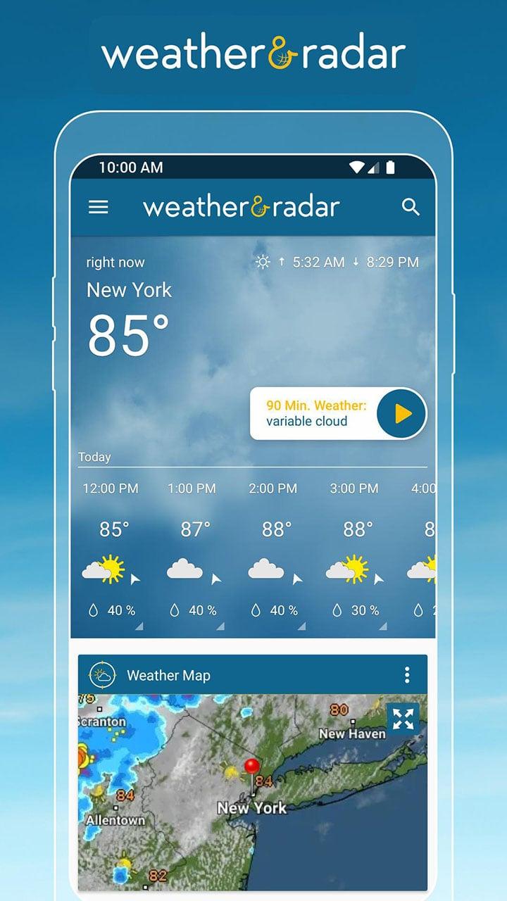 Weather & Radar screen 0