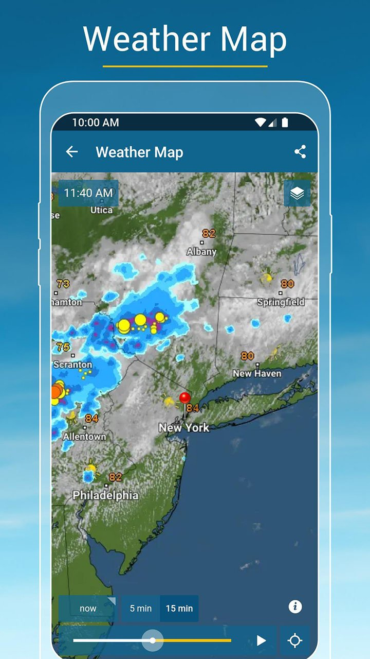 Weather & Radar screen 1