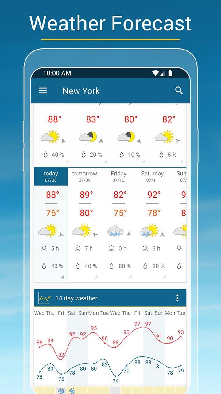 Weather & Radar screen 2
