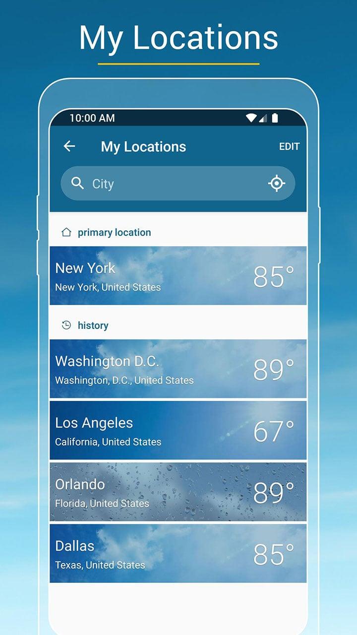 Weather & Radar screen 3