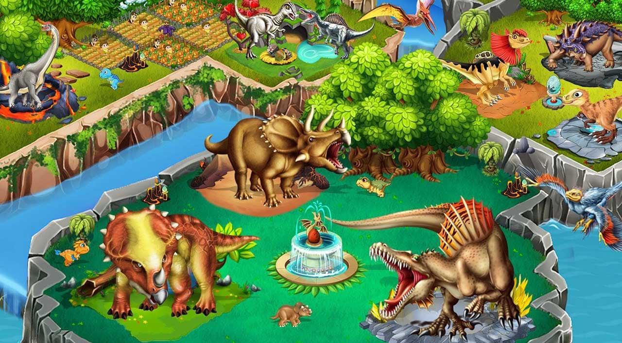 Dino Battle screen 1