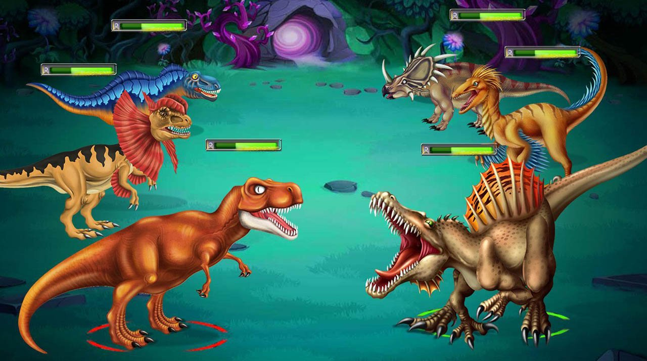 Dino Battle screen 2