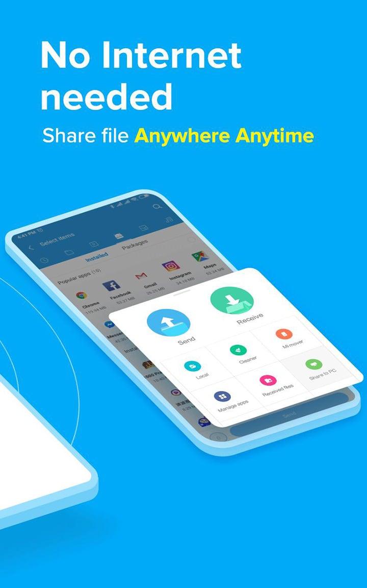 ShareMe screen 1